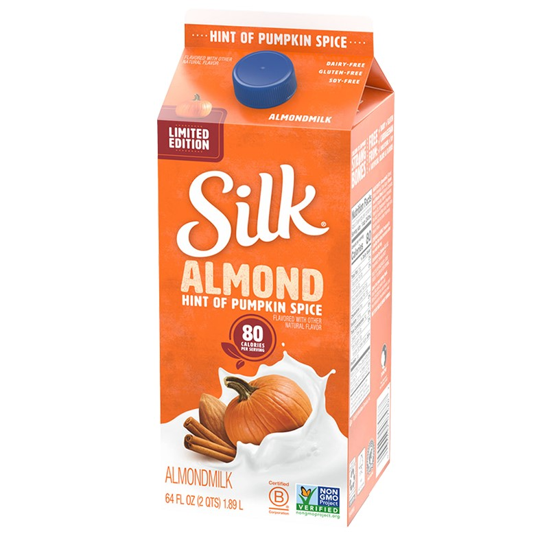 50 Dairy-Free Pumpkin Spice Sweets, Snacks, and More! Pictured: Silk Hint of Pumpkin Spice Almond Milk