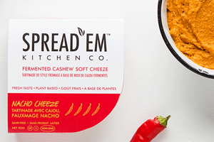 Spread'Em Kitchen Cashew Soft Cheeze Review & Info (Dairy-Free, Gluten-Free, Vegan, Paleo) - ingredients, nutrition and ratings for these cultured cheese alternatives in 7 flavors.