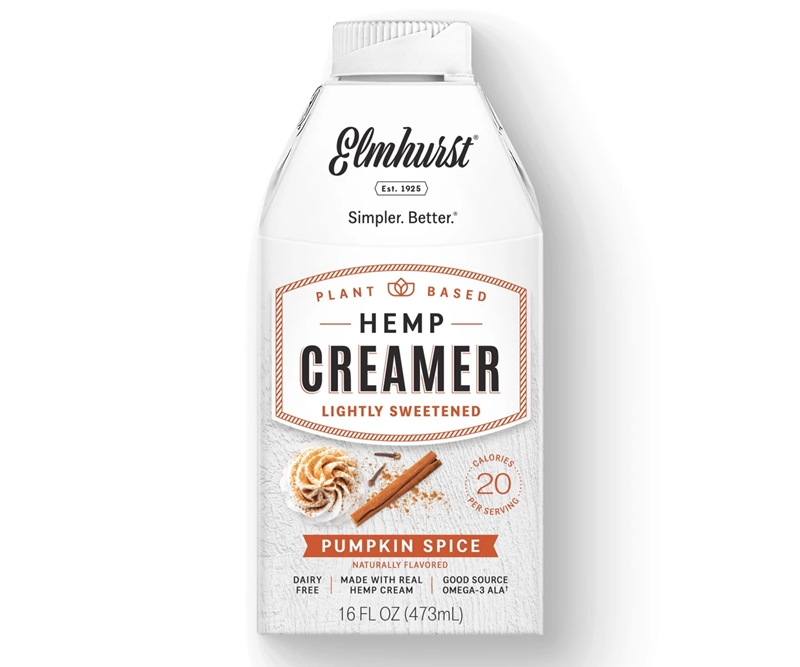 50 Dairy-Free Pumpkin Spice Sweets, Snacks, and More! Pictured: Elmhurst Hemp Creamer