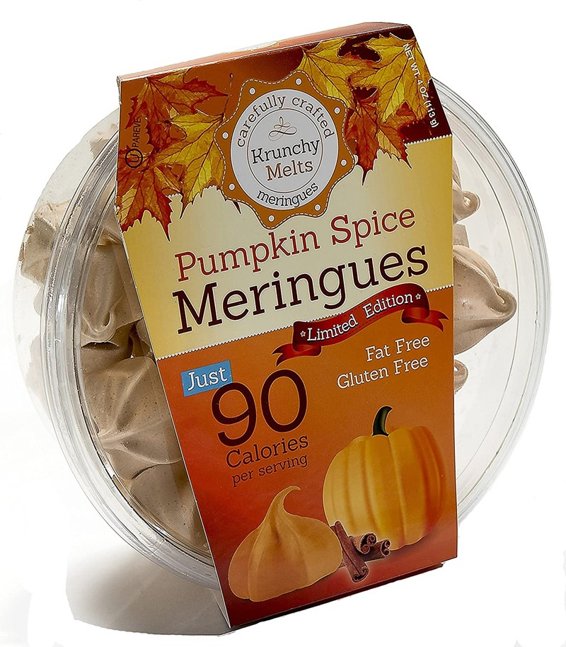 50 Dairy-Free Pumpkin Spice Sweets, Snacks, and More! Pictured: Krunchy Melts Meringues