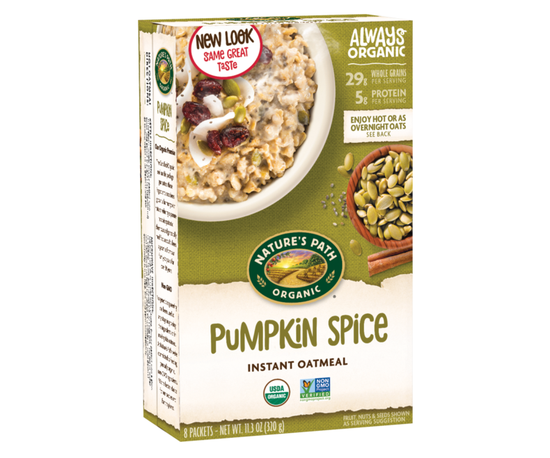 50 Dairy-Free Pumpkin Spice Sweets, Snacks, and More! Pictured: Nature's Path Instant Oatmeal