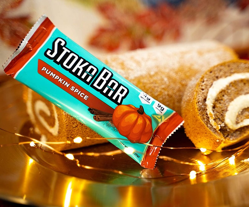 50 Dairy-Free Pumpkin Spice Sweets, Snacks, and More! Pictured: Stoka Bar