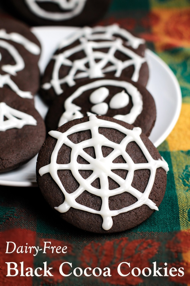 Dairy-Free Black Cocoa Cookies Recipe - Great for Halloween, Thanksgiving, Homemade Oreos, and More! (Kids Can Bake Recipe)