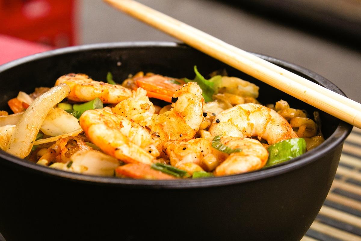 Shrimp Egg Roll Bowl Recipe over Cauliflower Rice - Dairy-Free, Gluten-Free, Low-Carb + Options for Paleo, Keto, and Vegan
