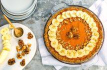 Healthy Scandinavian Sweet Potato Pie Recipe - dairy-free, gluten-free, soy-free, low sugar, and a great make-ahead freezer dessert.