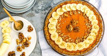Healthy Scandinavian Sweet Potato Pie Recipe - dairy-free, gluten-free, soy-free, low sugar, and a great make-ahead freezer dessert.