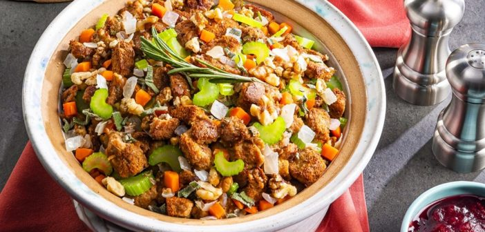 Royal Vegan Holiday Stuffing from the Kingdom of Arendelle
