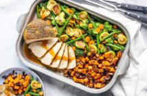 Turkey Sheetpan Dinner Recipe - A Small Gathering Holiday Feast that's dairy-free and allergy-friendly