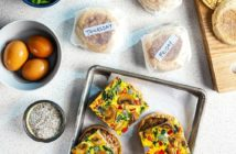 Make-Ahead Dairy-Free Frozen Breakfast Sandwiches Recipe with other Special Diet Options. A Mystic Kid-Friendly Recipe from Frozen 2!