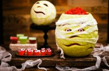 Halloween Melons - Mummy Melon and Jack-o-Melon Carving how-to's plus tips and recipes for the watermelon flesh. Allergy-friendly and plant-based!