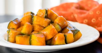Fast & Easy Maple-Glazed Kabocha Squash Recipe - naturally dairy-free, allergy-friendly, vegan, and paleo. No peeling required!