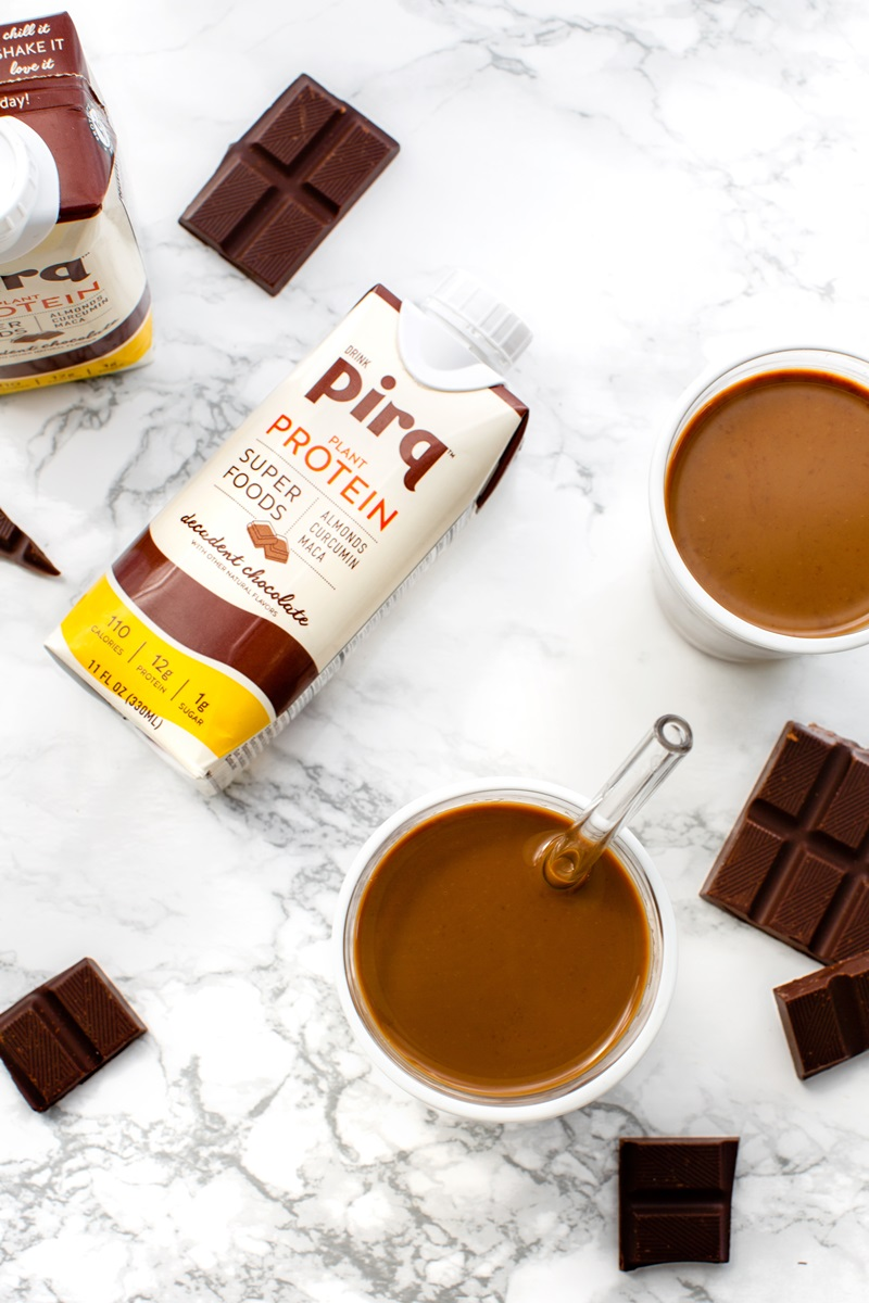 Pirq Dairy-Free and Keto Superfood Drinks Go Beyond Protein - plant-based, stocked with maca and turmeric, soy-free, low carb, and more!