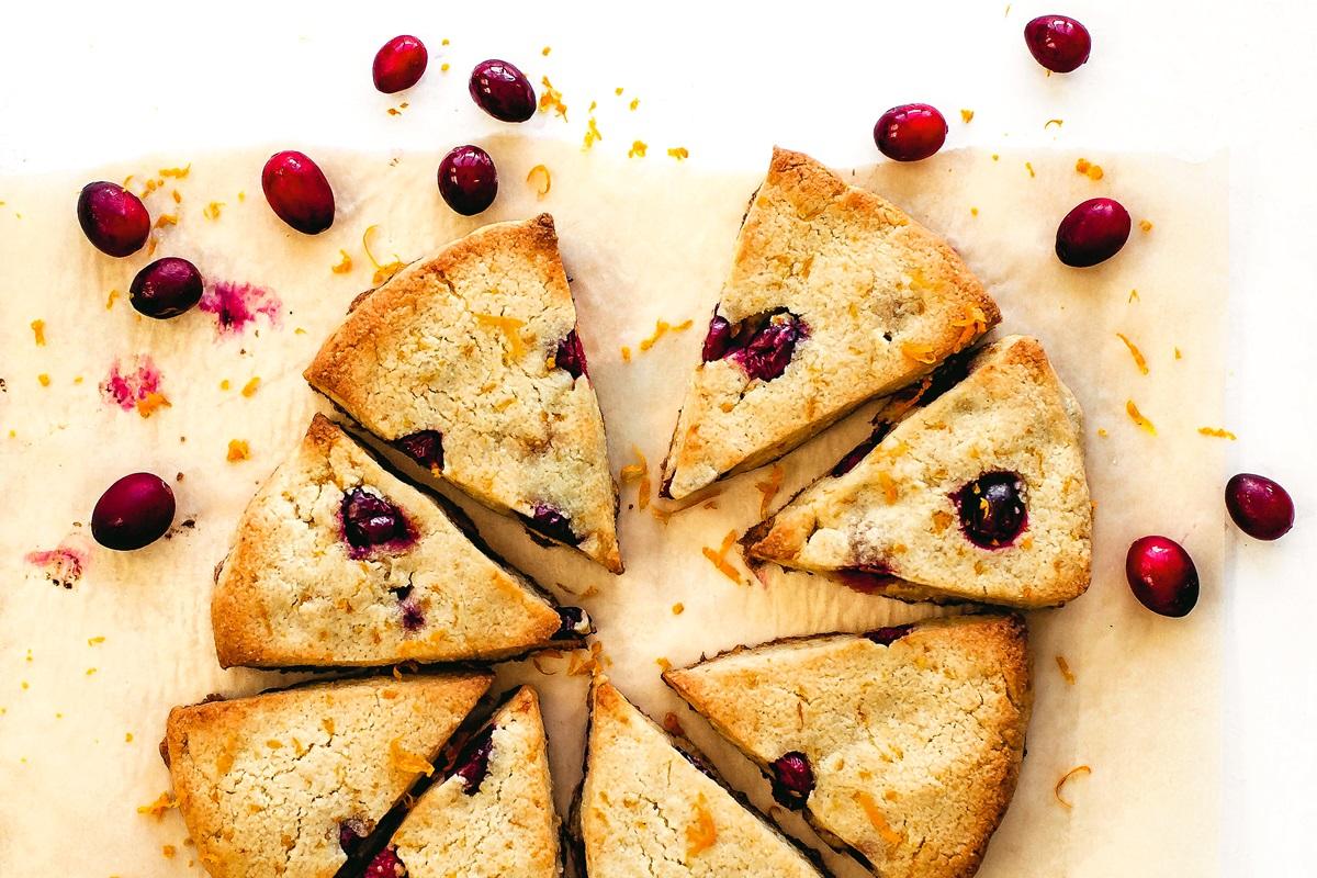 Dairy-Free Keto Cranberry-Orange Scones Recipe from The Wholesome Yum Easy Keto Cookbook