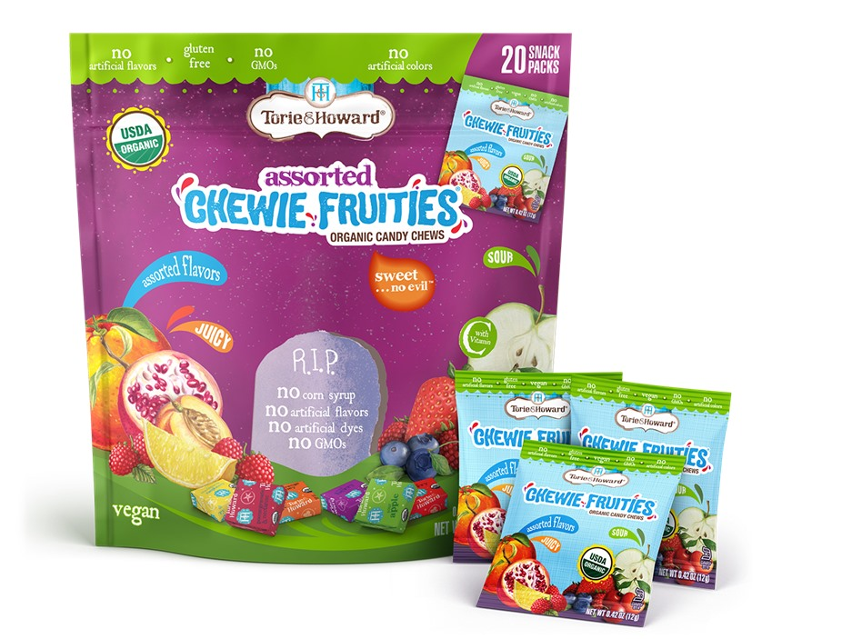 Dairy-Free Halloween Treats - The Cutest, Tastiest Round-up of Chocolate, Candy and Snacks! Pictured: Torie & Howard Fruit Chewies