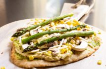 Plant-Based Garden Flatbread Recipe - dairy-free, vegan, and flavorful! Gluten-free and allergy-friendly options