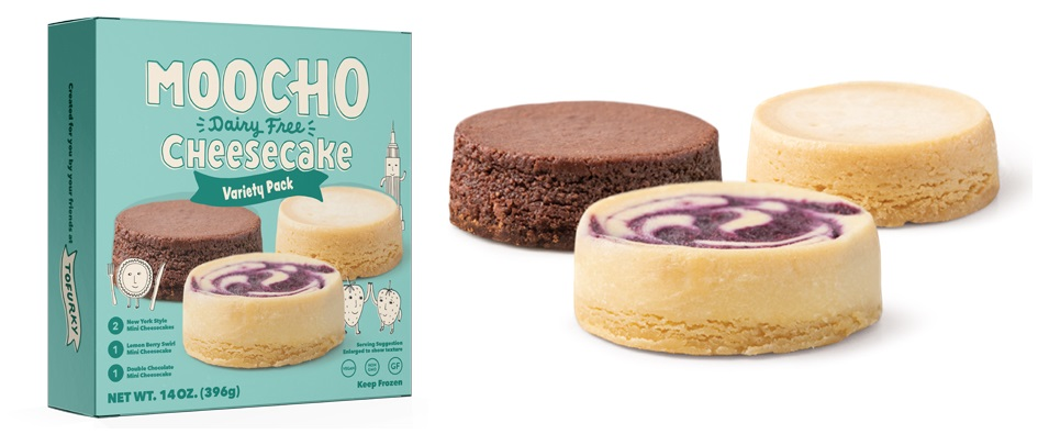 Moocho Dairy-Free Cheesecakes Review & Info - Tofurky's line of vegan, gluten-free mini cheesecakes sold in multi-packs