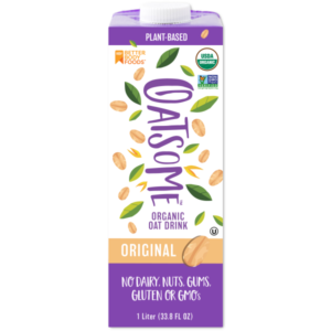 Oatsome Oatmilk in 3 Varieties - all vegan, gluten-free, soy-free, and free of additives.