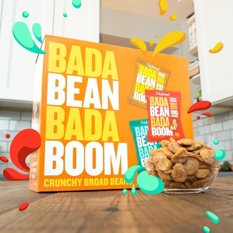 Bada Bean Bada Boom Review & Info - Crunchy Broad Bean Snacks in several vegan, dairy-free, and gluten-free flavors