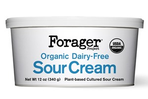 Forager Dairy-Free Sour Cream Review and Info - cashew and coconut milk-based, cultured with probiotics, certified organic, vegan, gluten-free, and soy-free.
