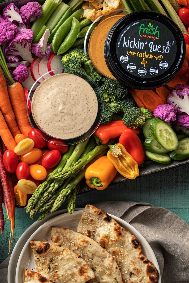 Fresh Cravings Plant-Based Dips Review and Info - Almond and Cashew Based Dairy-Free Dips in sweet, savory, and cheesy flavors. We have all the details ...