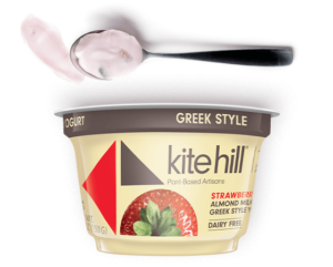 Kite Hill Greek Style Yogurt (made with almond milk) Review and Info - dairy-free, vegan, paleo-friendly, healthy yogurt in several almond-based flavors. We have ingredients, ratings, and more!