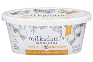 Milkadamia Buttery Spread Review and Info - dairy-free, vegan, soy-free, gluten-free, and made with a macadamia oil blend.