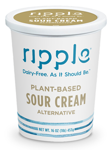 Ripple Plant-Based Sour Cream Review and Info - dairy-free, soy-free, gluten-free, nut-free, and vegan! We have ingredients, availability, ratings, and more.