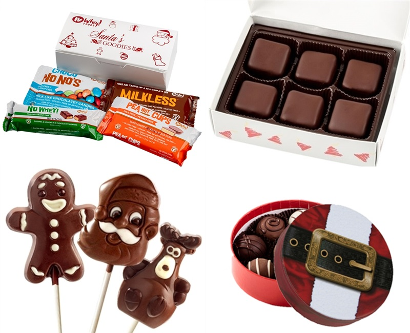 The Best Dairy-Free Chocolate Gifts for the Holidays. Pictured: No Whey Holiday Chocolates