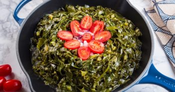 Not-Yo-Mama's Collard Greens - Vegan Collard Greens Recipe for Health and Prosperity