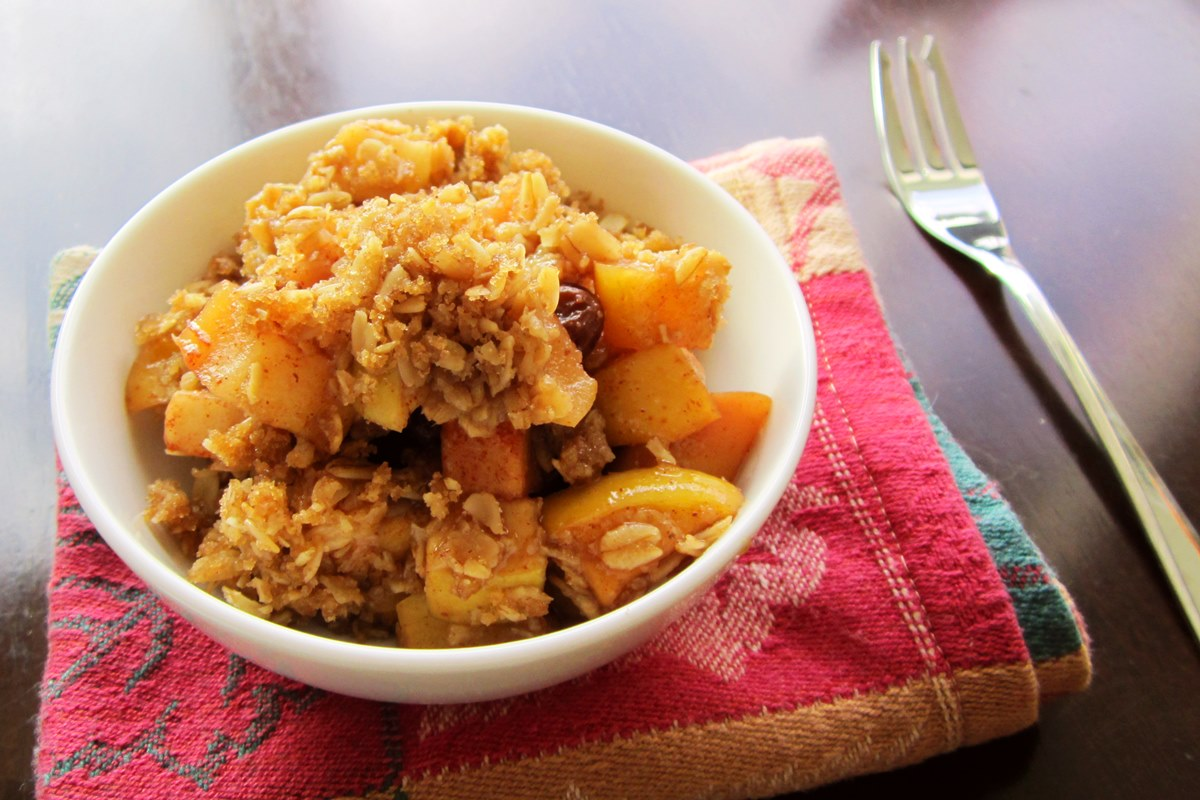 Oatmeal Cookie Apple Crisp Recipe (Dairy-free, Vegan)