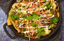 Vegan Asian Skillet Nachos with Wasabi Crema Recipe (also gluten-free and nut-free)