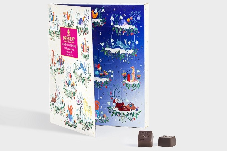 Dairy-Free Advent Calendars - A Full Round-Up with Vegan, Gluten-Free, Nut-Free, & Soy-Free Options, too! Pictured: Prestat Fairytale Calendar