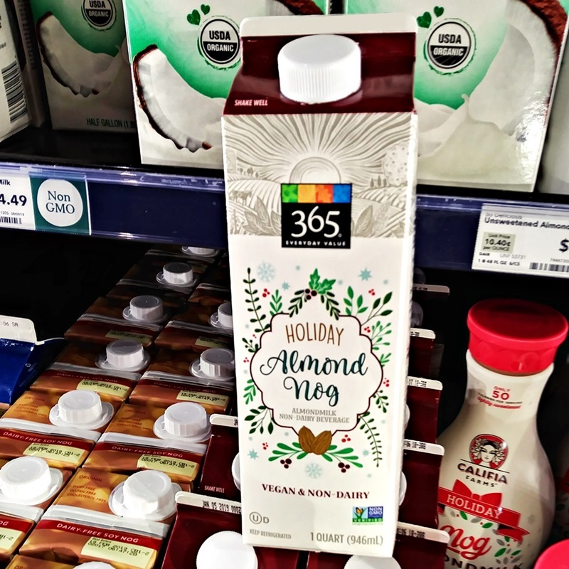 Dairy-Free Holiday Beverages: A Big Round-Up of Vegan Nog, Pumpkin, and Chocolate Mint Drinks (Whole Foods 365 pictured)