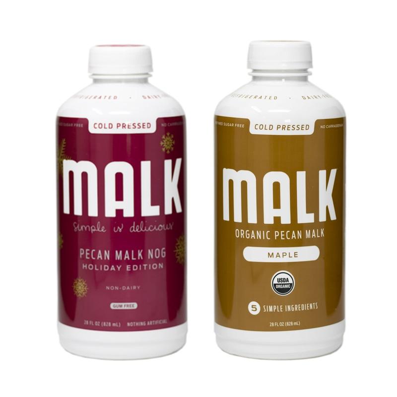 Dairy-Free Holiday Beverages: A Big Round-Up of Vegan Nog, Pumpkin, and Chocolate Mint Drinks (Pecan Malk Nog pictured)