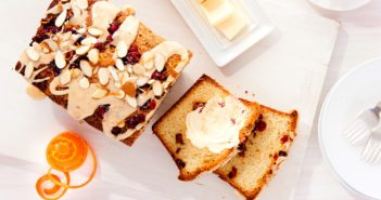Dairy-Free Cranberry Orange Pound Cake Recipe with Ginger-Orange Glaze