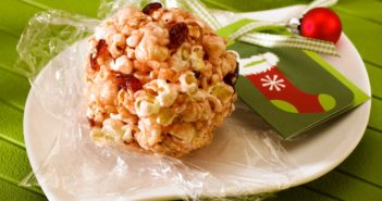 Cranberry Popcorn Balls Recipe - Dairy-Free, Gluten-Free, Allergy-Friendly, and Vegan Christmas Treat