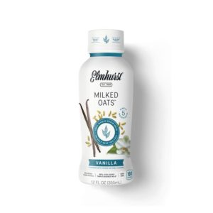 Elmhurst Milked Oats Reviews and Info - Dairy-Free, Plant-Based, Pure Oat Milk in Several Flavors and Sizes! Includes Dark Chocolate and Blueberry!