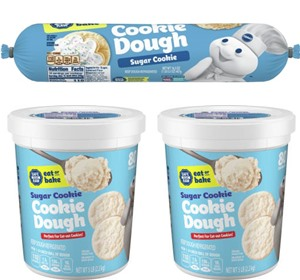 Pillsbury Cookie Dough Comes in All These Dairy-Free Varieties! Reviews, Ingredients & Full Details. Pictured: Pillsbury Sugar Cookie Dough