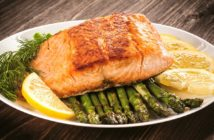 Salmon & Asparagus Sheet Pan Dinner Recipe - naturally dairy-free, low carb, keto, paleo, gluten-free, grain-free, and even nut-free! Just 20 minutes from start to serving!