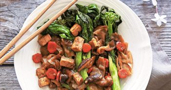 Vegan Pad See Eew Recipe with Tofu and Chinese Broccoli (also gluten-free!) from the Vegan Thai Kitchen cookbook