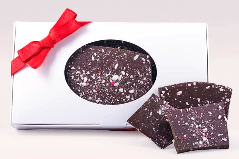 Amanda's Own Chocolate Peppermint Bark - top allergen free