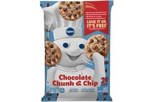 Pillsbury Cookie Dough Comes in All These Dairy-Free Varieties! Reviews, Ingredients & Full Details. Pictured: Pillsbury Chocolate Chunk and Chocolate Chip Cookie Dough