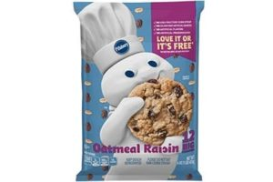 Pillsbury Cookie Dough Comes in All These Dairy-Free Varieties! Reviews, Ingredients & Full Details. Pictured: Pillsbury Oatmeal Raisin Cookie Dough