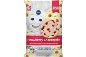 Pillsbury Cookie Dough Comes in All These Dairy-Free Varieties! Reviews, Ingredients & Full Details. Pictured: Pillsbury Strawberry Cheesecake Cookie Dough