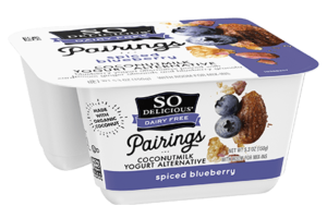 So Delicious Pairings Coconutmilk Yogurt Alternative Review and Info - Dairy-free, gluten-free, soy-free, and vegan yogurt alternative with toppings. Spiced Blueberry Flavor