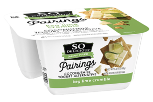 So Delicious Pairings Coconutmilk Yogurt Alternative Review and Info - Dairy-free, soy-free, and vegan yogurt alternative with toppings. Key Lime Crumble Flavor Pictured