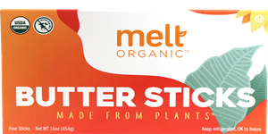 Melt Organic Buttery Sticks Reviews and Information (Dairy-Free, Soy-Free, Gluten-Free, Vegan). Ingredients, availability, nutrition, ratings, and more!