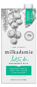 Milkadamia Barista Milk Review and Info - designed as a dairy-free creamer that steams, foams, and works for latte art. We have ingredients, ratings, and more!