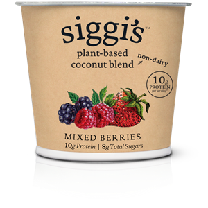 Siggi's Plant-Based Yogurt Alternative Reviews & Info (These has More Protein than Sugar!) Ingredients, ratings, and more. Pictured: Mixed Berries