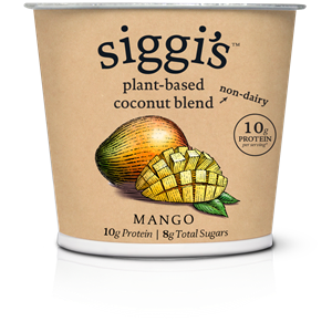 Siggi's Plant-Based Yogurt Alternative Reviews & Info (These has More Protein than Sugar!) Ingredients, ratings, and more. Pictured: Mango